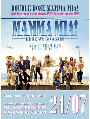 image affiche soirée écran pop avant-première mamma mia here we go again