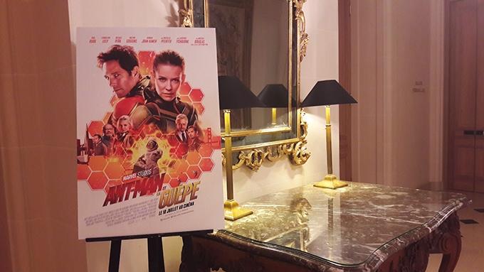image hôtel bristol paris conférence de presse ant-man et la guêpe