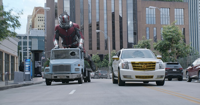 image paul rudd pick-up trotinette antman et la guêpe peyton reed