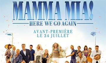 image gros plan affiche mamma mia here we go again soirée écran pop avant-première