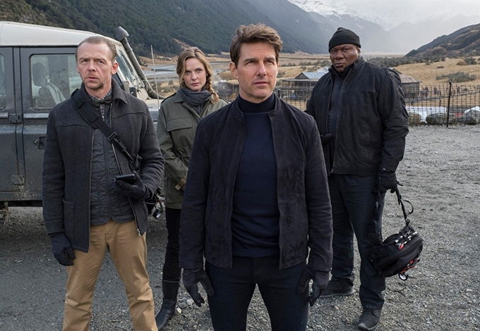 image simon pegg rebecca ferguson tom cruise ving rhames mission impossible fallout