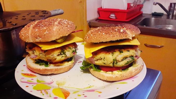 image test recette burgers au crabe bob l'éponge gastronogeek spécial dessins animés