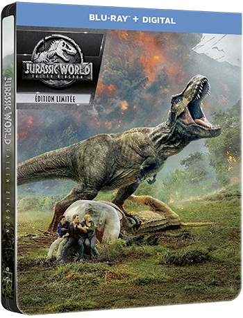image boîtier blu-ray jurassic world fallen kingdom universal pictures france