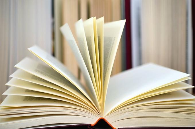 image livre ouvert pages éventail
