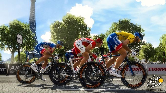 image jeu tour de france 2018
