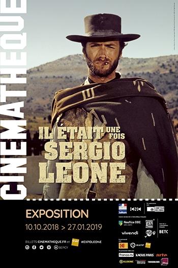 image affiche exposition il était une fois sergio leone cinémathèque française paris