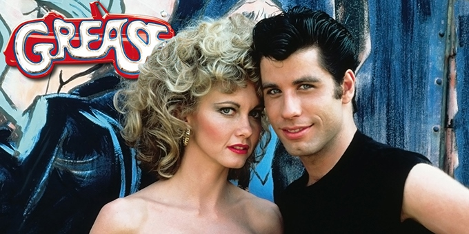 image olivia newton-john john travolta promo shot grease