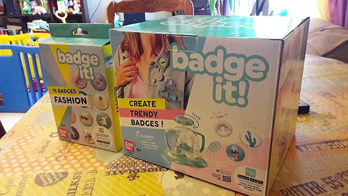 image boîte et recharge badge it bandai