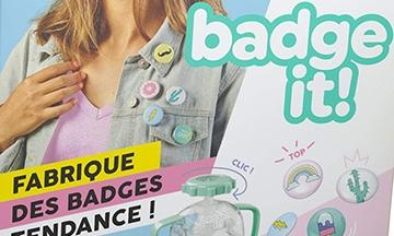 image gros plan boîte badge it bandai
