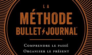 image gros plan couverture la méthode bullet journal ryder carroll éditions mazarine