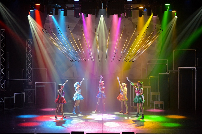 image néons colorés pretty guardian sailor moon the super live