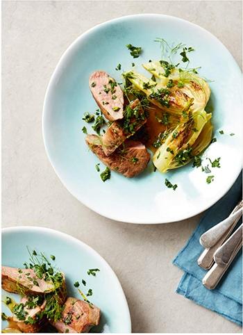 image magret de canard braisé au fenouil gremolata à l'orange bon et sain gordon ramsay hachette pratique