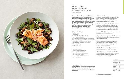 image saumon grillé salade de lentilles et champignons bon et sain gordon ramsay hachette cuisine