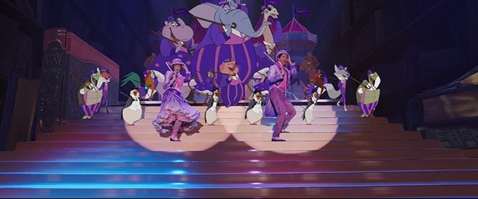 image emily blunt lin-manuel miranda scène cabaret le retour de mary poppins disney