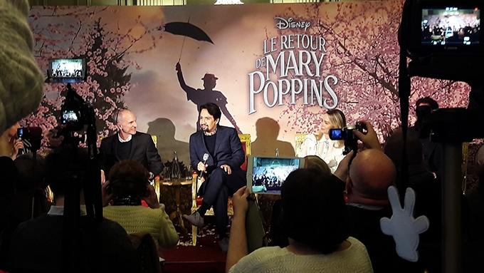 image conférence de presse parisienne le retour de mary poppins disney