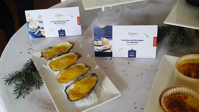 image huîtres chaudes et sabayon au muscadet thiriet collection de noël 2018