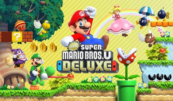 image logo new super mario bros u deluxe