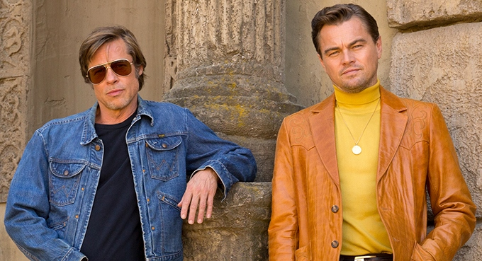 image brad pitt leonardo dicaprio once upon a time in hollywood quentin tarantino