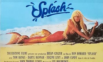 image gros plan affiche splash film ron howard avec daryl hannah en sirène