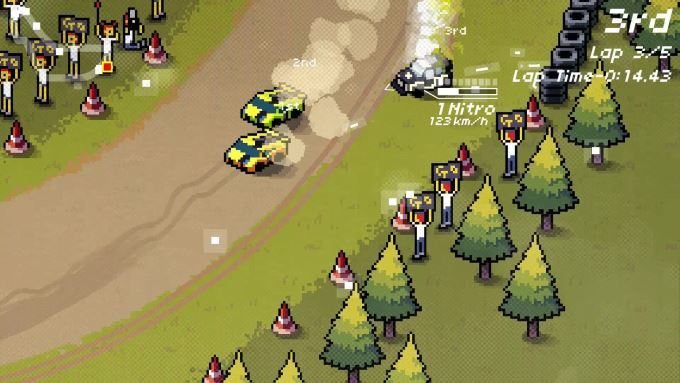 image gameplay super pixel racers