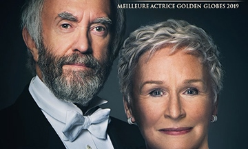 image gros plan affiche the wife jonathan pryce glenn close