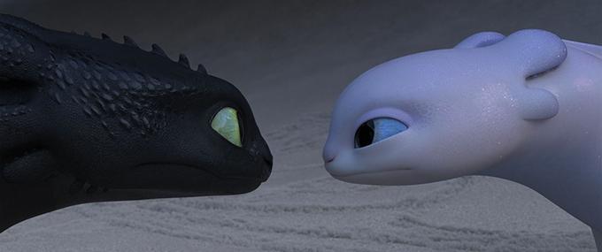 image krokmou et furie blanche nez à nez dragons 3 le monde caché