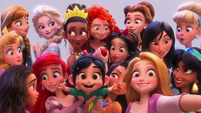 image vanellope et princesses disney ralph 2.0