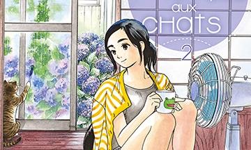 image gros plan couverture la fille du temple aux chats tome 2 de makoto ojiro soleil manga