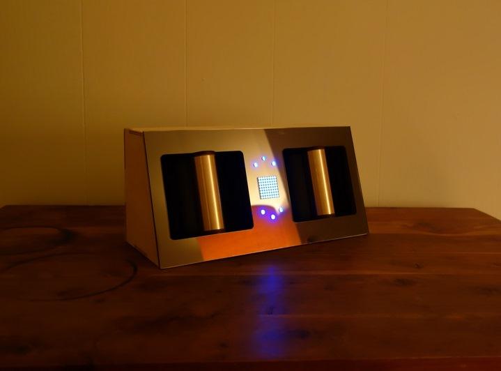 Essai de boite à empathie conçue par Sophia Brueckner, 2014 (http://www.sophiabrueckner.com/empathybox.html).