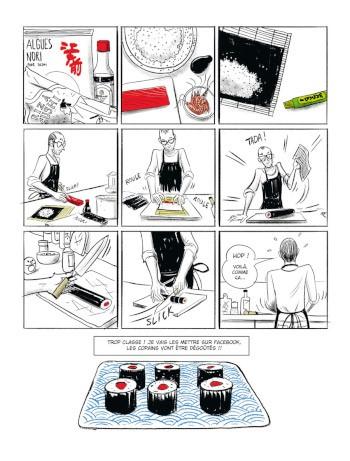 image planche 2 l'art du sushi franckie alarcon éditions delcourt