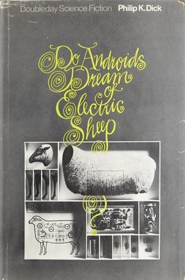 Couverture de l'édition originale de Do Androids Dream of Electric Sheep? de Philip K. Dick (1968).