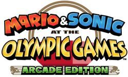 image logo mario and sonic at the olympic games arcade