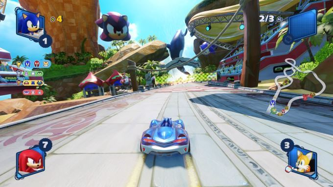 image gameplay team sonic racing