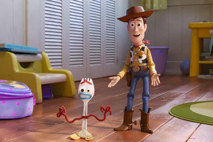 image fourchette woody dans toy story 4 pixar