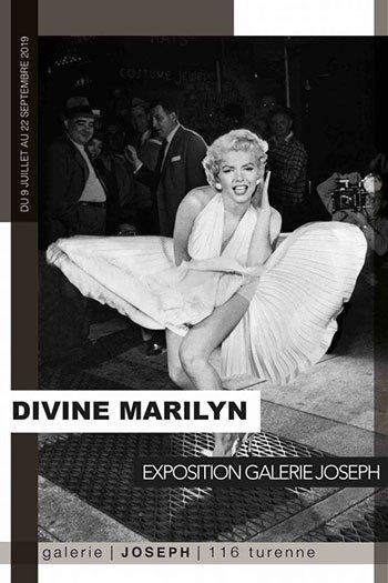 image affiche exposition divine marilyn galerie joseph paris