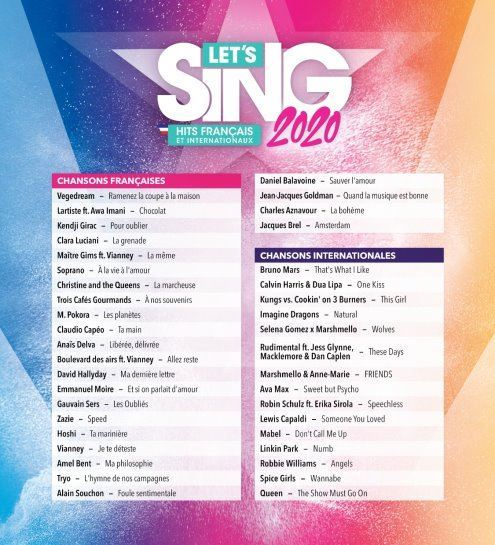 image playlist let's sing 2020