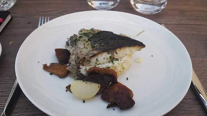 image maigre snacké risotto champignons restaurant château de saint-priest