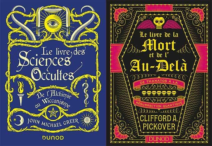 image couvertures le livre des sciences occultes et le livre de la mort et de l'au-delà éditions dunod