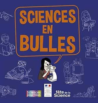 image couverture sciences en bulles bd fête de la scienc 2019