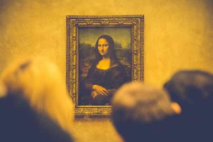 image tableau la joconde leonard de vinci au musée du louvre