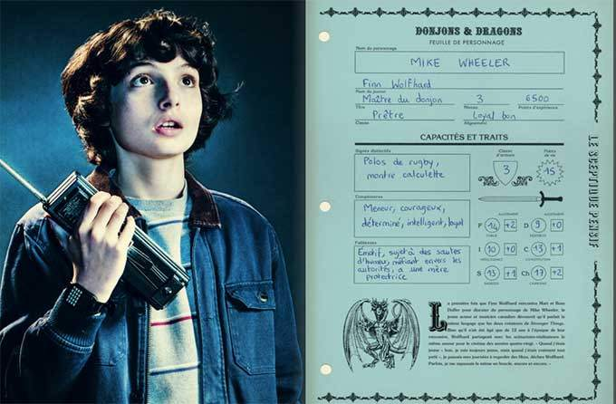 image fiche personnage mike guide officiel stranger things dans l'envers du décor