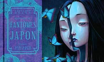 gros plan couverture histoires de fantômes du japon de lafcadio hearn illustré par benjamin lacombe éditions soleil métamorphose