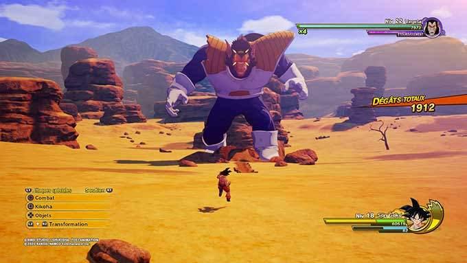 image combat dragon ball z kakarot