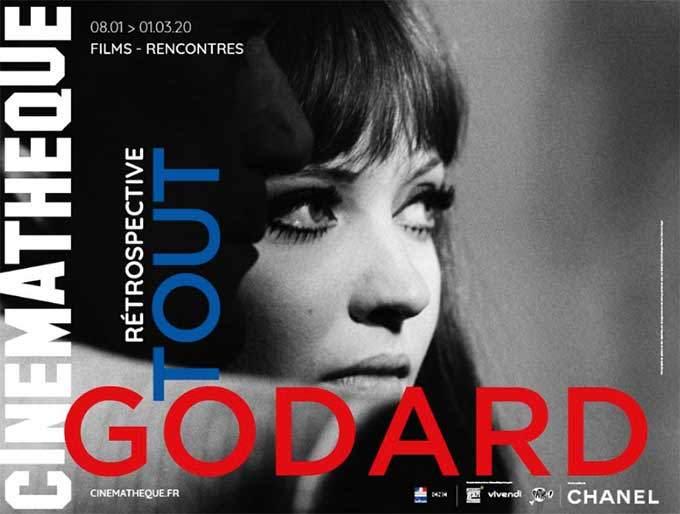 affiche rétrospective jean-luc godard cinémathèque française