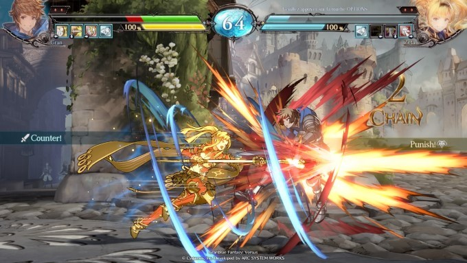 image gameplay granblue fantrasy versus