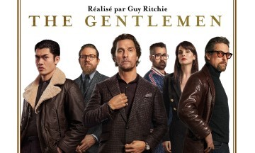 gros plan affiche the gentlemen de guy ritchie avec matthew mcconaughey et hugh grant