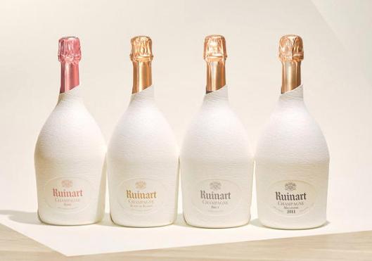 bouteille de champagne ruinart étui blanc 2020