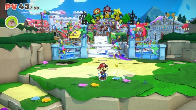 image test paper mario the origami king