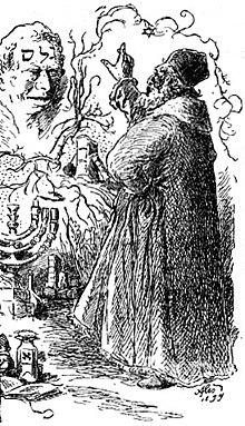 Représentation du rabbin Loew et de son Golem