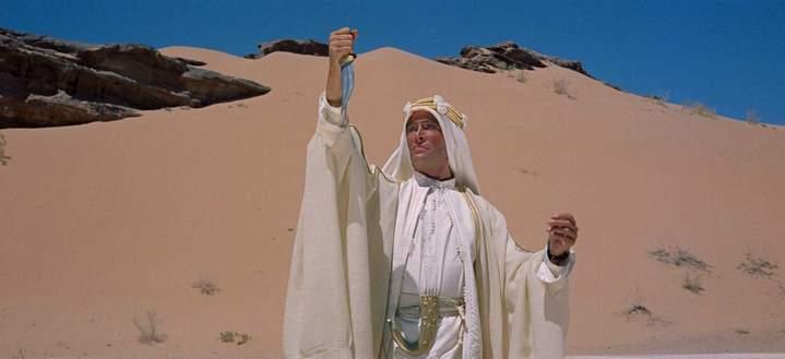 Peter O'Toole dans Lawrence d'Arabie de David Lean (1962).